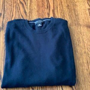 Navy Cotton Cashmere Sweater